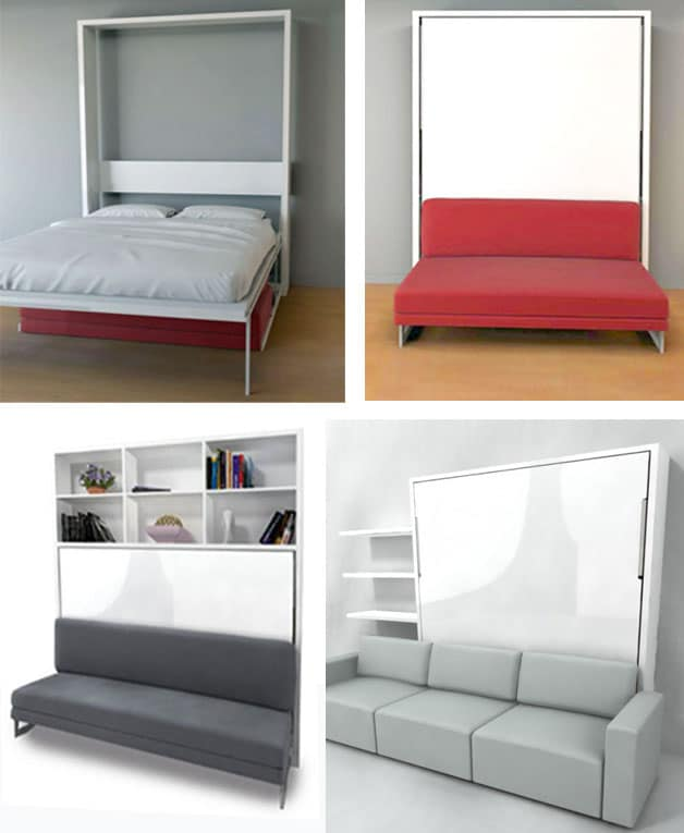 Murphy Wall Bed Couch Combo With A