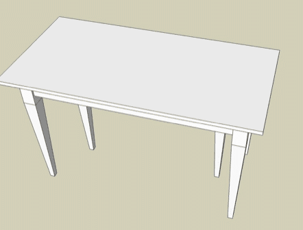 build a foldable table yourself and save a lot of money