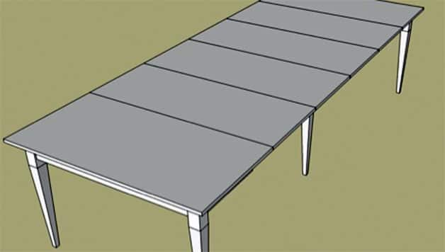 Ideal  DIY Foldable table with leafs