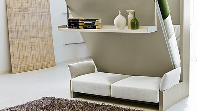 Murphy Wall Bed Couch Combo With A Sofa In Front