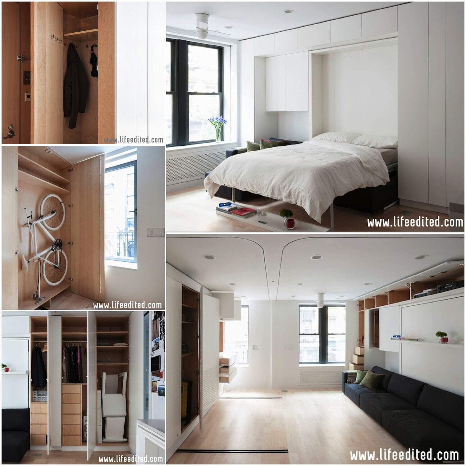 The LifeEdited#1 has a normal bed and plenty of storage