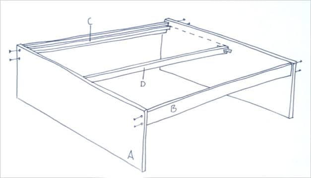 Storage bed Sketch - DIY