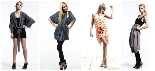 4 styles with the same dress