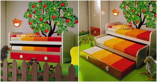 pull out bed for kids 3 in 1