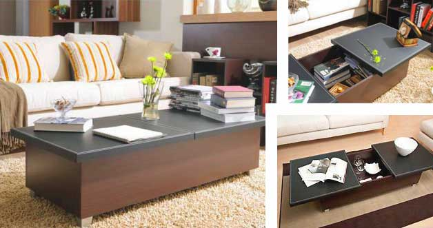 folding furniture for small homes. 14) Coffee Table With Storage Folding Furniture For Small Homes
