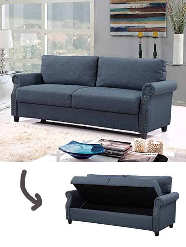 Classic Couch with storage inside