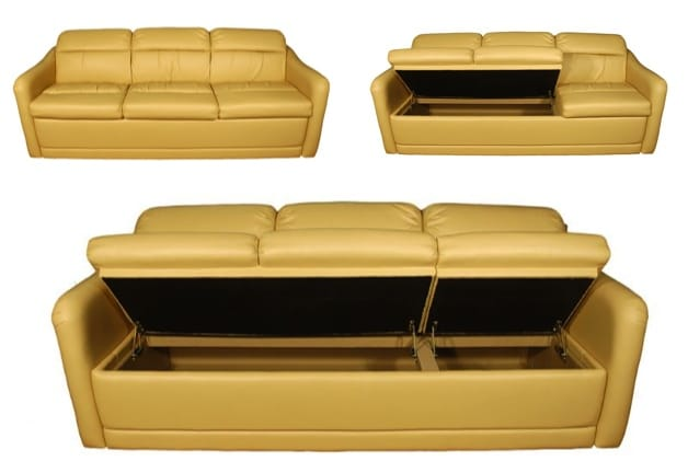 Glastop Storage Sofa Flipup