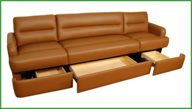 Sofas with storage – 2 options