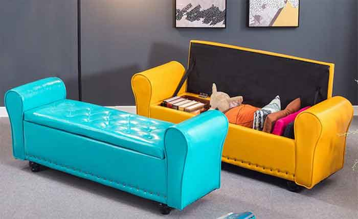 Retro sofa with storage