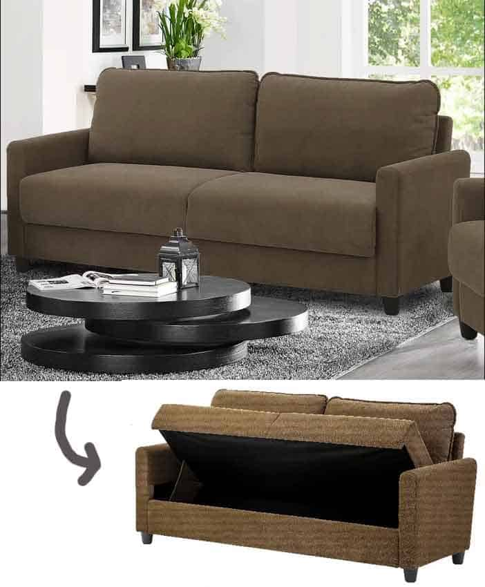 Sofa With Storage Below The Seats