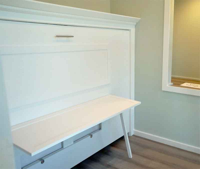 DIY Murphy Bed (Twin bed) with a fold-up desk