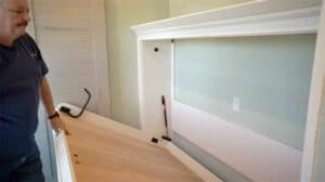 Twin DIY Murphy bed with horizontal mounting