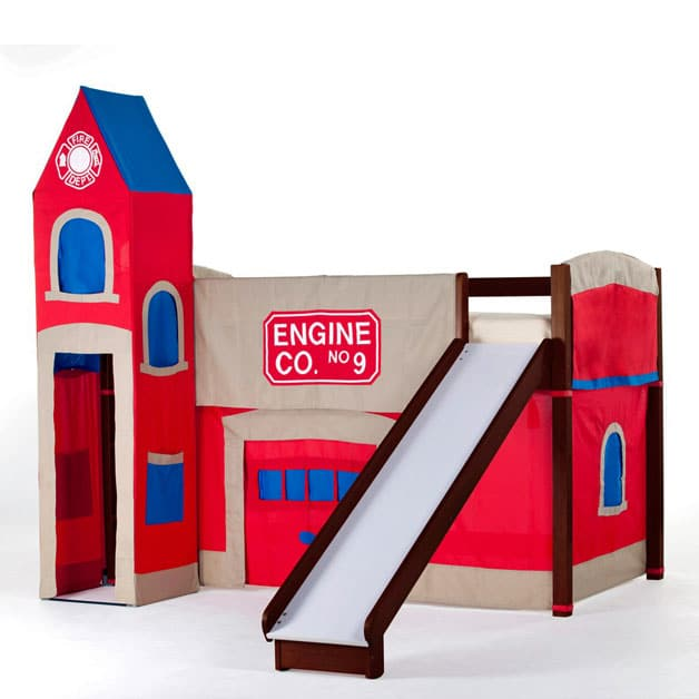 bunk bed with slide (boys)