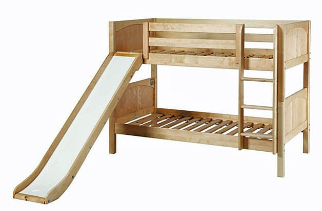 Bunk bed with slide for two kids