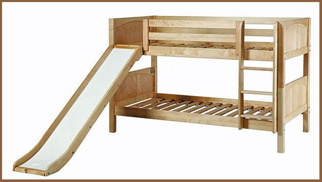 Fancy  Double Bunk Bed With Slide
