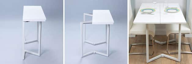 White Folding Kitchen Table And Chairs