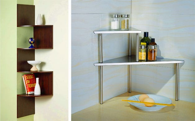 Diy small bathroom storage ideas - Shelving For Small Spaces 9 Creative Shelving Solutions