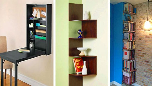 Space saving ideas storage and shelving in the living room - Small bookcases for small spaces design ...