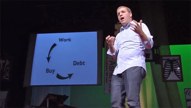 Sell your crap. Pay your debt. Do what you love. (Adam Baker at TED)