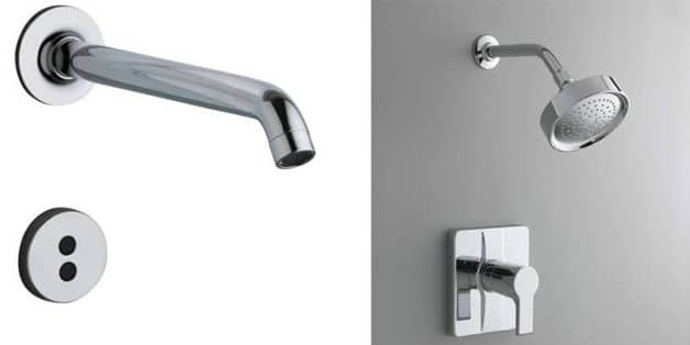 Built-in shower head