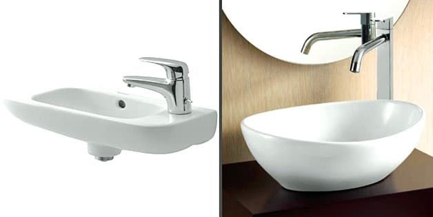 Small Basins For Bathrooms + a Few Space Saving Tips