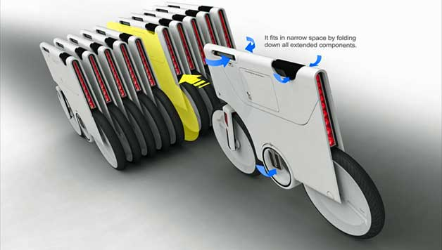 folding bike space saver