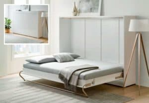 affordable murphy bed with sideways mount to wall
