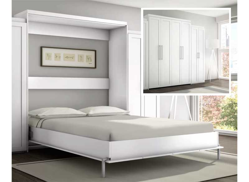 white wall bed