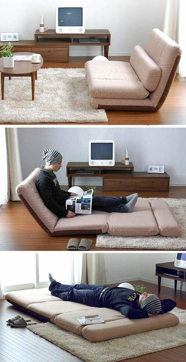 7 Brillant Folding Sofas Chaise lounges amp Beds GoDownsize