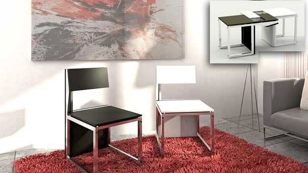 Sofa table and chairs in one