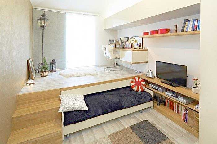 32 Really Clever Bed Solutions For Small Spaces (Space Saving)
