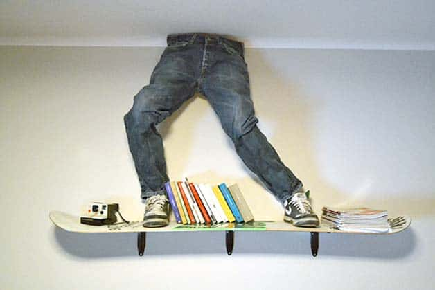 Cool Things To Hang On Wall hang your bike / skateboard on your wall - godownsize