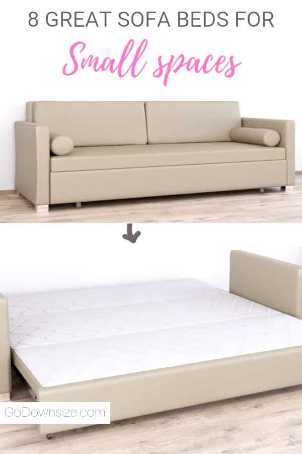 Sofa bed with fold-out queensize sleeping area