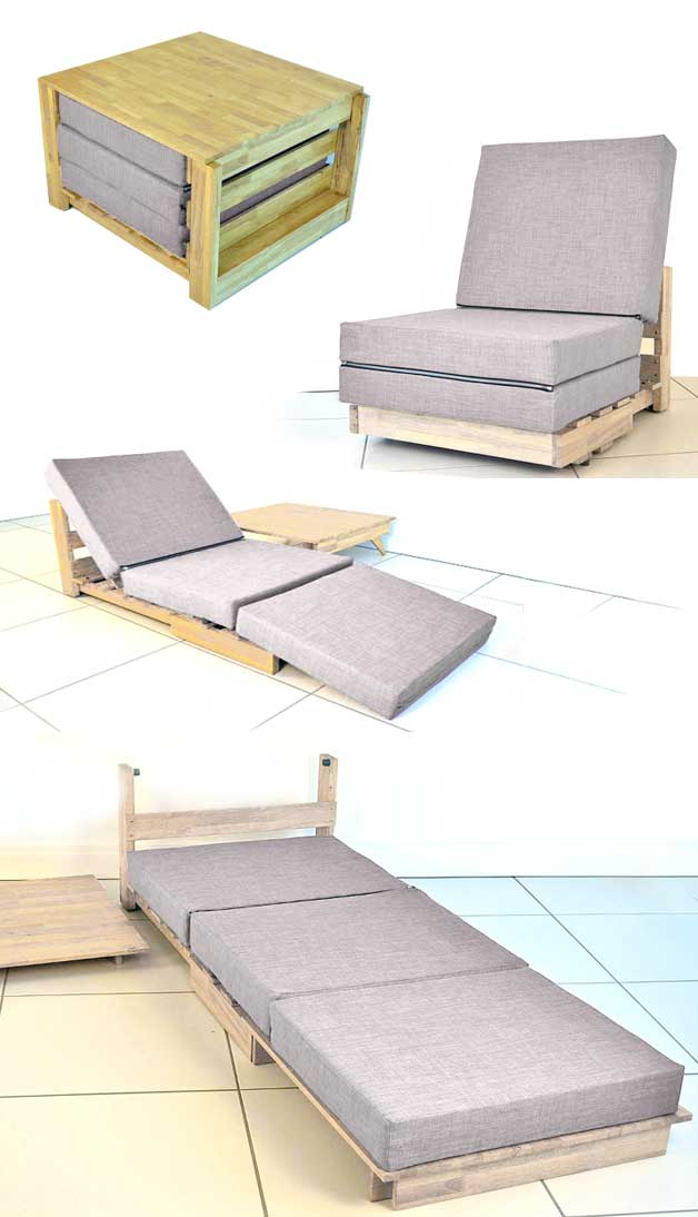Bed and chair in one