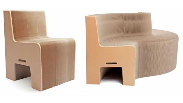 This 100% recycled paper chair expand from 1-12 seats