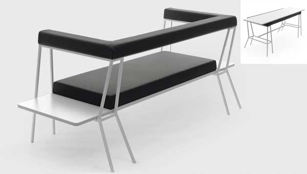 Table / Sofa in One – Convertible Design