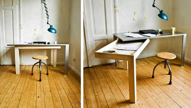 office furniture for small spaces. Folding Furniture For Small Spaces. Smart The Home Office Spaces Godownsize C