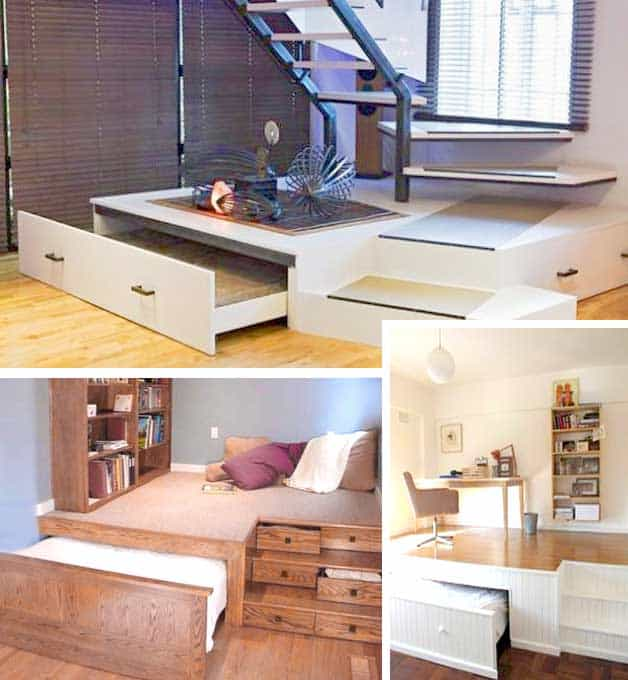 Small Homes That Use Lofts To Gain More Floor Space: Tiny House Furniture: 23 Brilliant Ideas You Can Steal