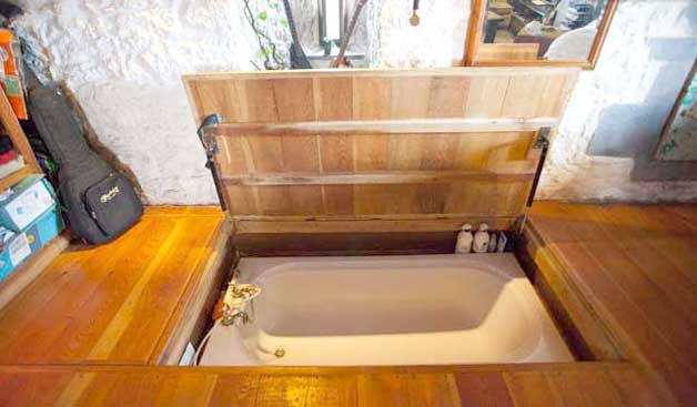 Wonderful Hidden Tub In The Floor Under Hatch Door