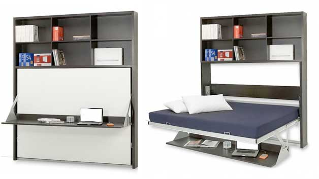 folding furniture for small homes. Wall-bed-desk Folding Furniture For Small Homes L