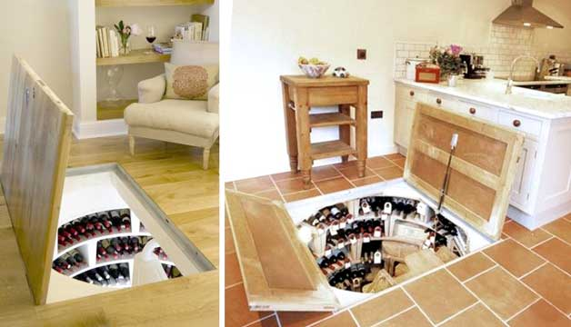wine cellar floor - Small House Living
