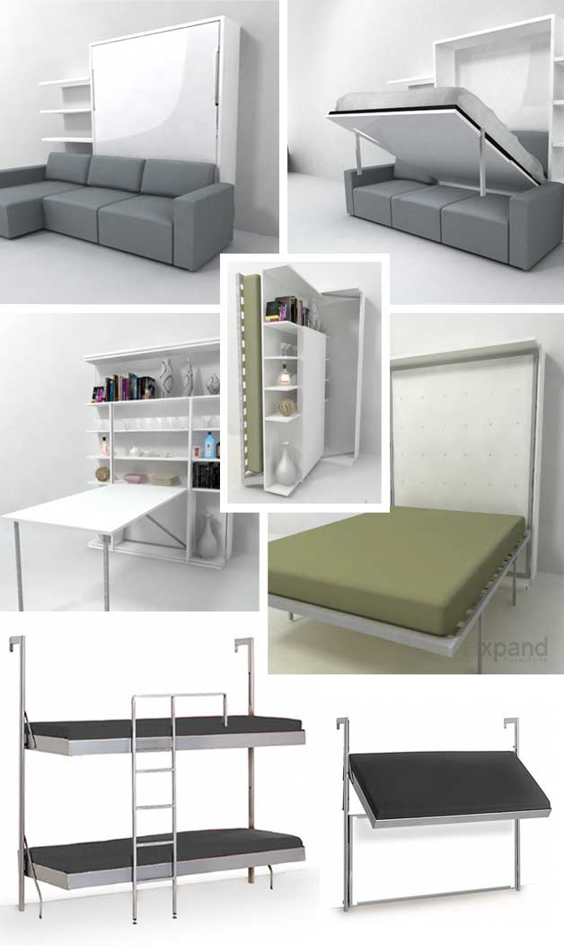 modern wall bed. Murphy-beds-bookcase Modern Wall Bed