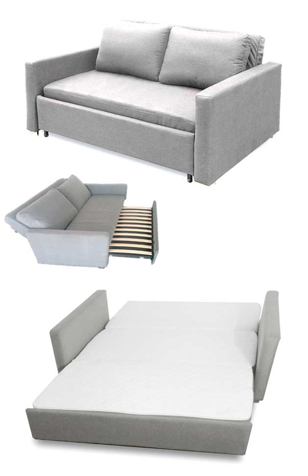 Brillant Folding Sofas Chaiselounges Beds GoDownsize - Mattress for sofa bed