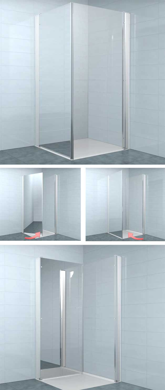 folding-shower