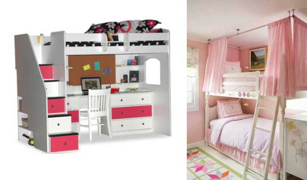 Cool Loft and bunk beds are great options