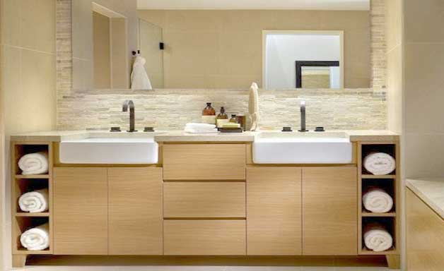 space saving ideas for small bathrooms. towel space 9 Space Saving Tips for Small bathrooms  GoDownsize com