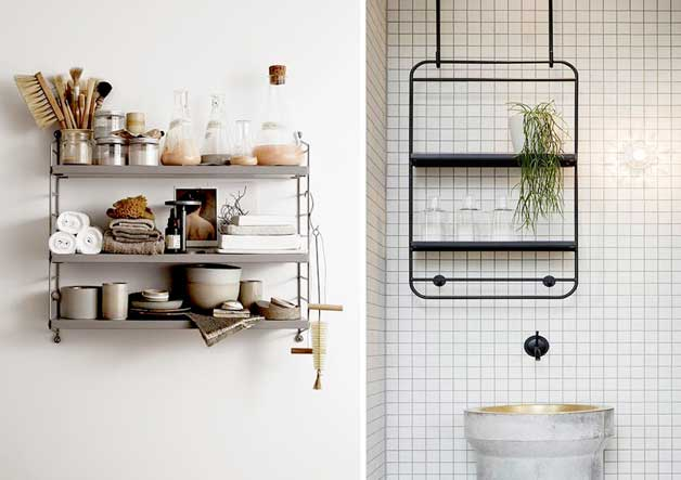 Trend You can also use single shelves for a more minimalistic touch with or without space for towels
