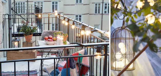 Tips to decorate the small balcony for Decorating a small balcony for christmas