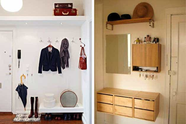entrance areas 9 ideas for optimizing the small entryway. Black Bedroom Furniture Sets. Home Design Ideas