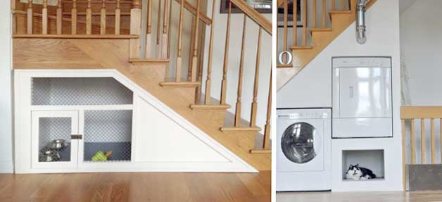 Storage built-in under stairs